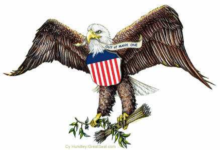 American Bald Eagle On Great Seal Of The United States