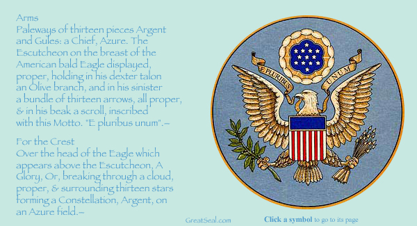 11751b010 Symbols on the Obverse Side of the Great Seal of the United States